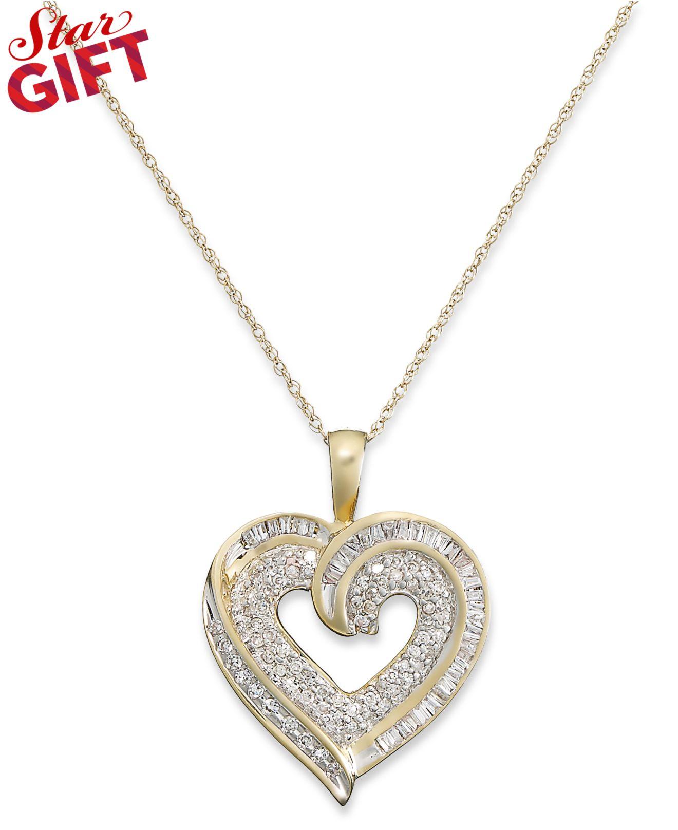 Ct White Gold Diamond Heart Necklace