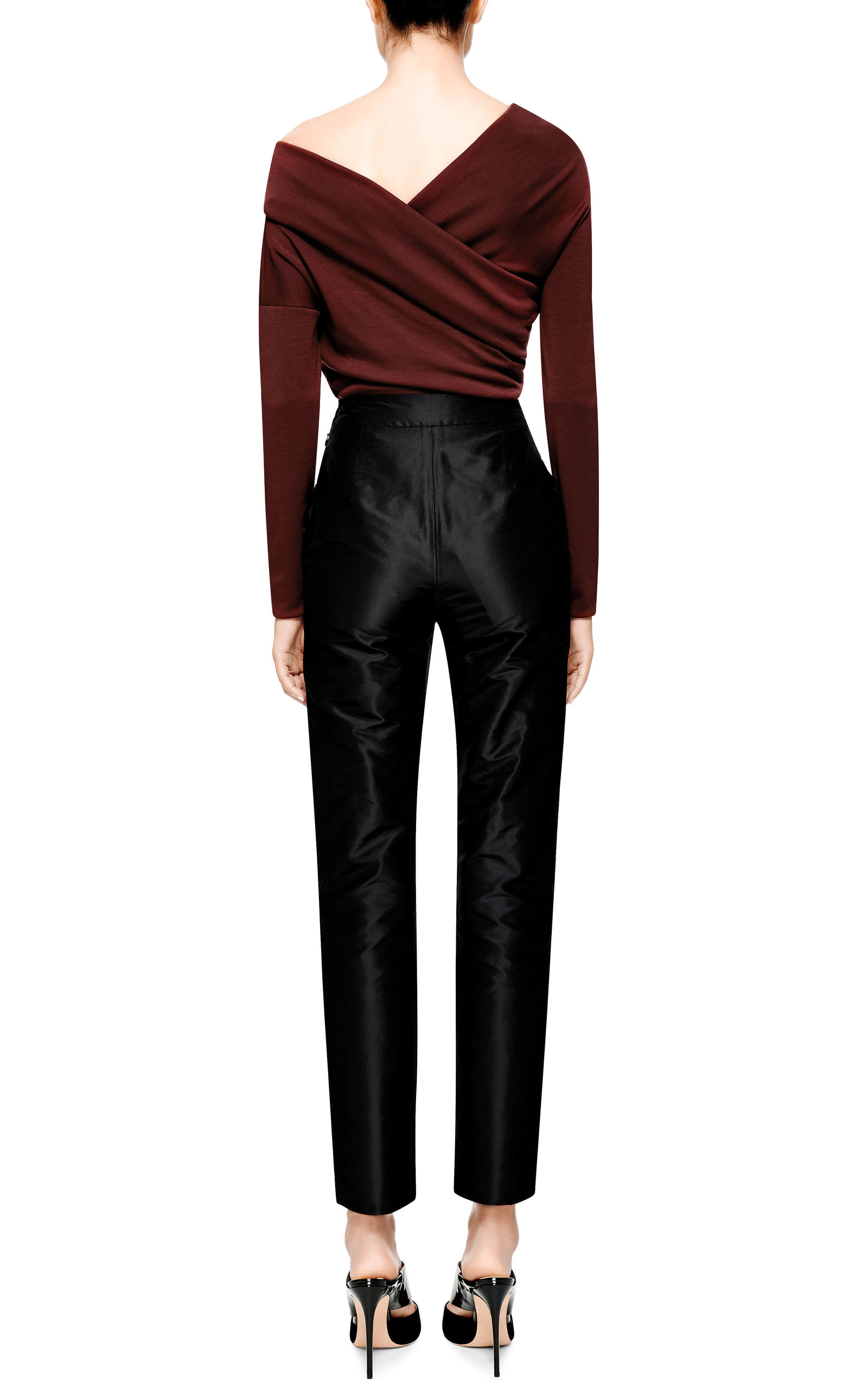 Isa arfen Silk-taffeta Pants in Black