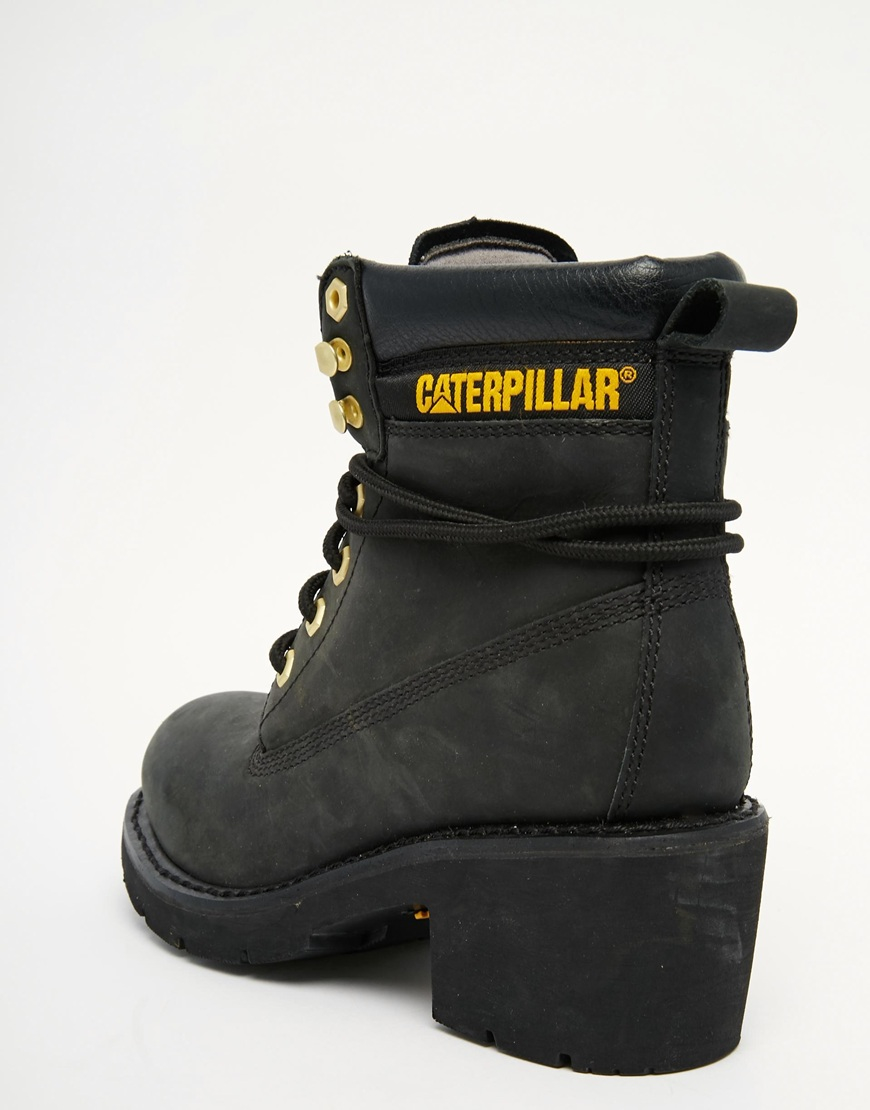 Ottawa Black Heeled Leather Ankle Boots Black