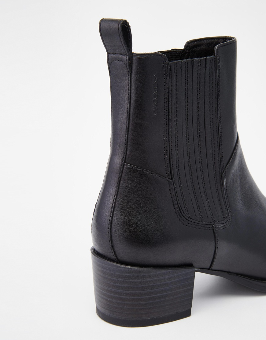 Vagabond Emira Leather High Ankle Boots in Black | Lyst