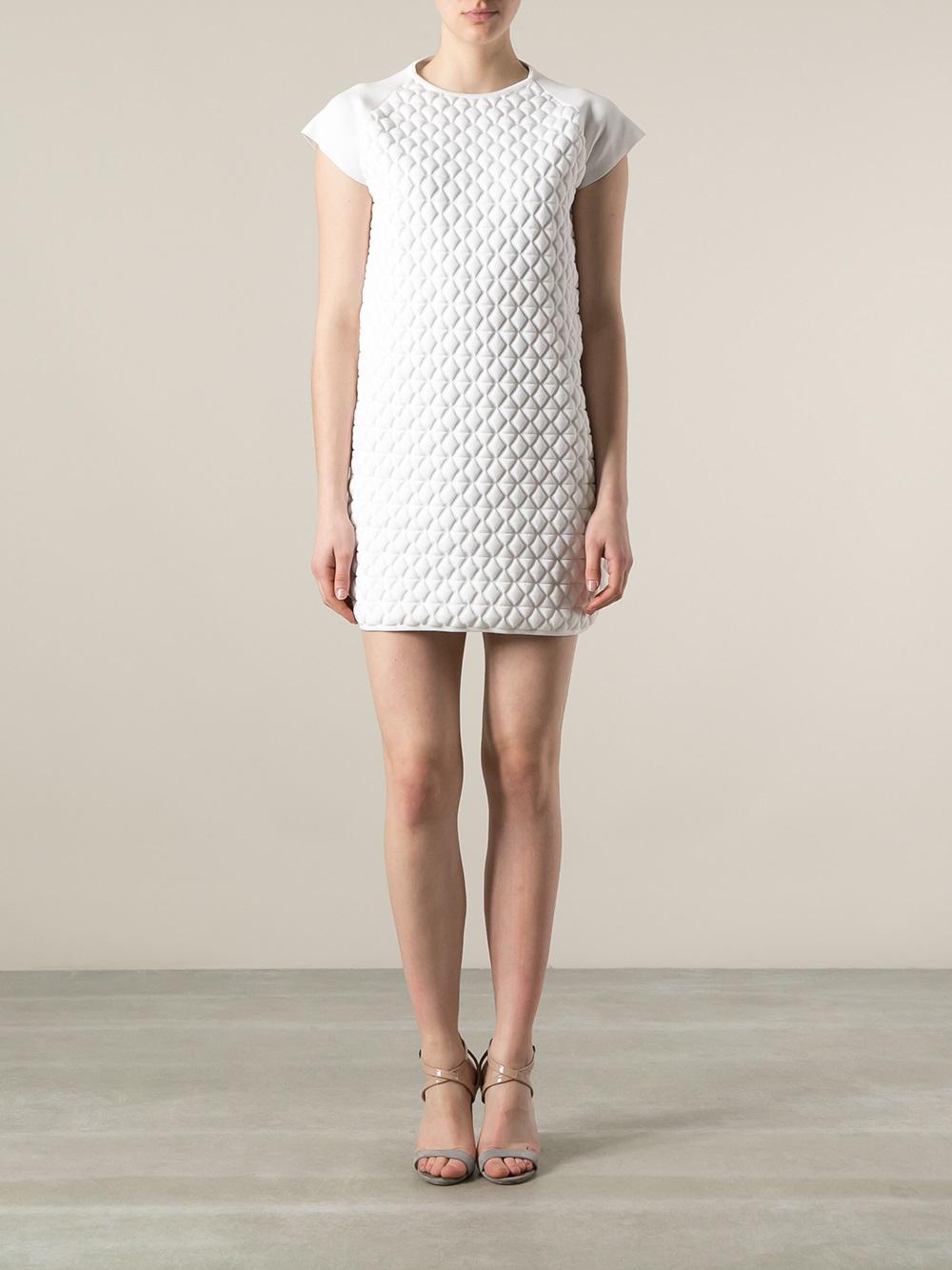 Lyst Vionnet Embossed Dress In White