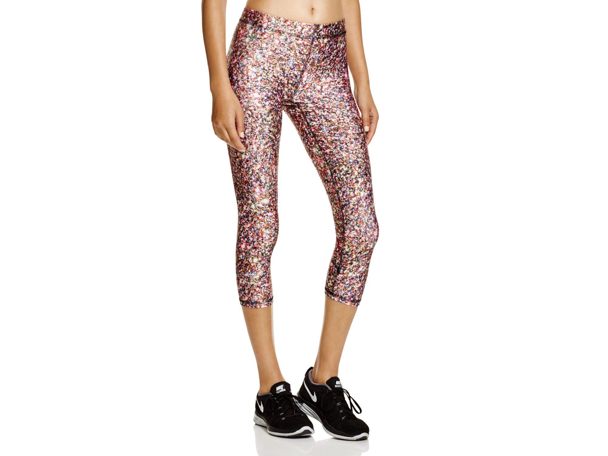 Terez Zara Glitter Capri Leggings in Multicolor | Lyst