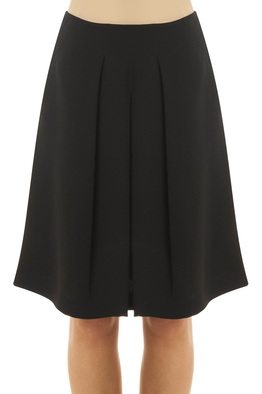 vince pleated skirt in black lyst