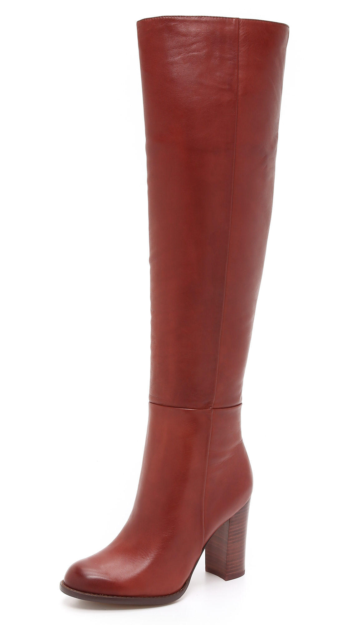 786c9646550d40 Sam Edelman Rylan Tall Boots - Rust Red in Brown - Lyst