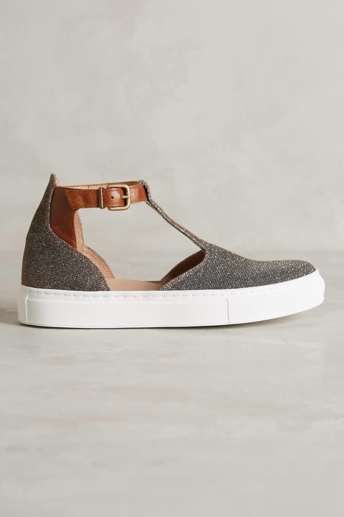 Lyst - Kmb T-strap Sneakers in Metallic