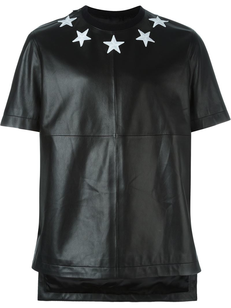 Givenchy star patch t shirt in black for men lyst for Givenchy t shirt man