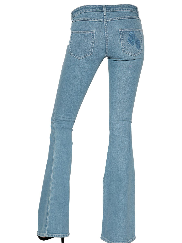 Lyst American Retro Flare Stretch Denim Jeans In Blue