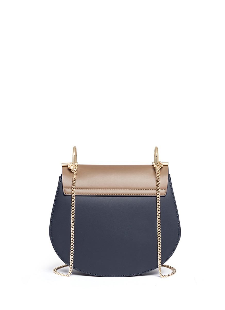 Chlo¨¦ \u0026#39;drew\u0026#39; Leather Flap Suede Shoulder Bag in Green (Blue and ...