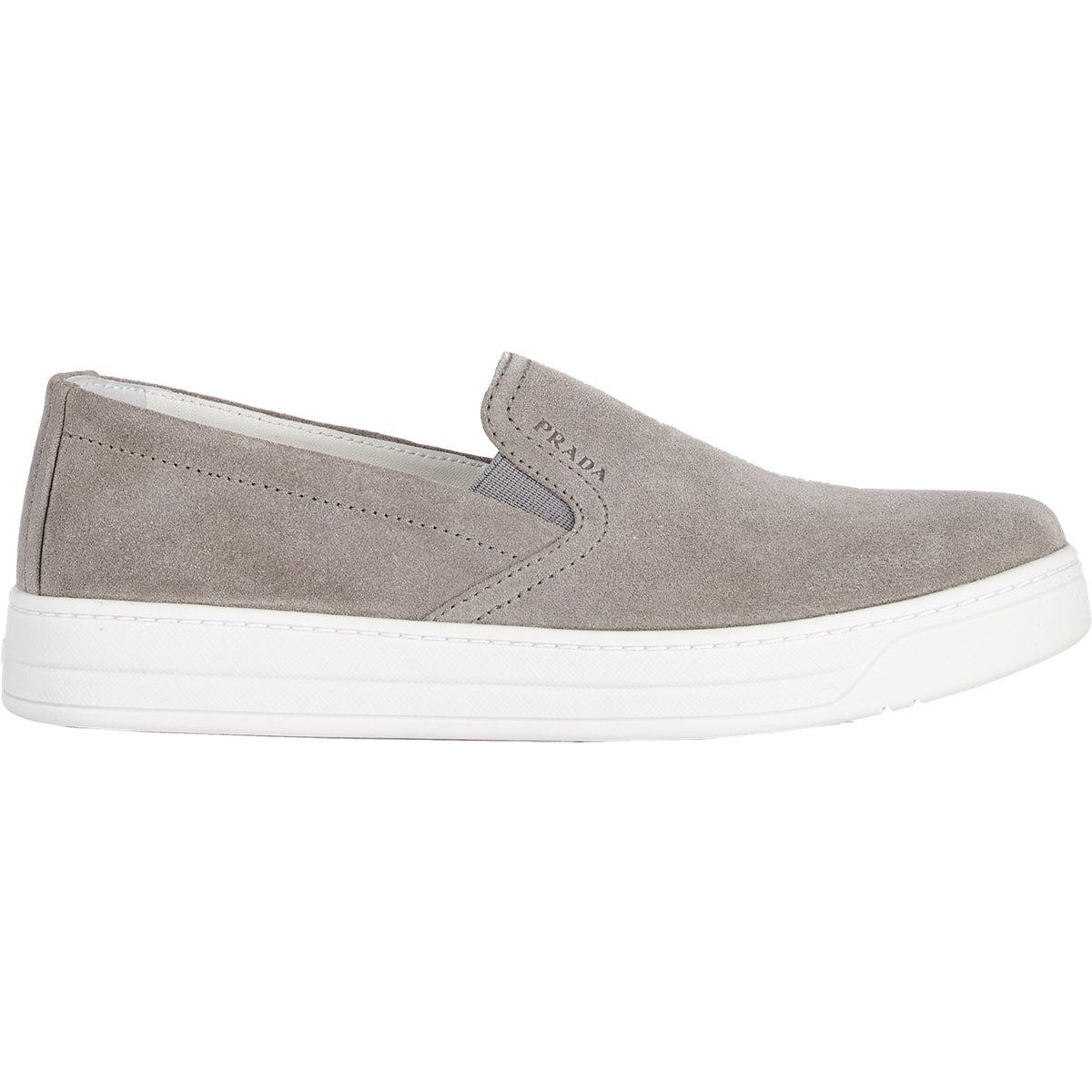 Prada Slip-on Sneakers in Gray - Lyst 3c37708a14
