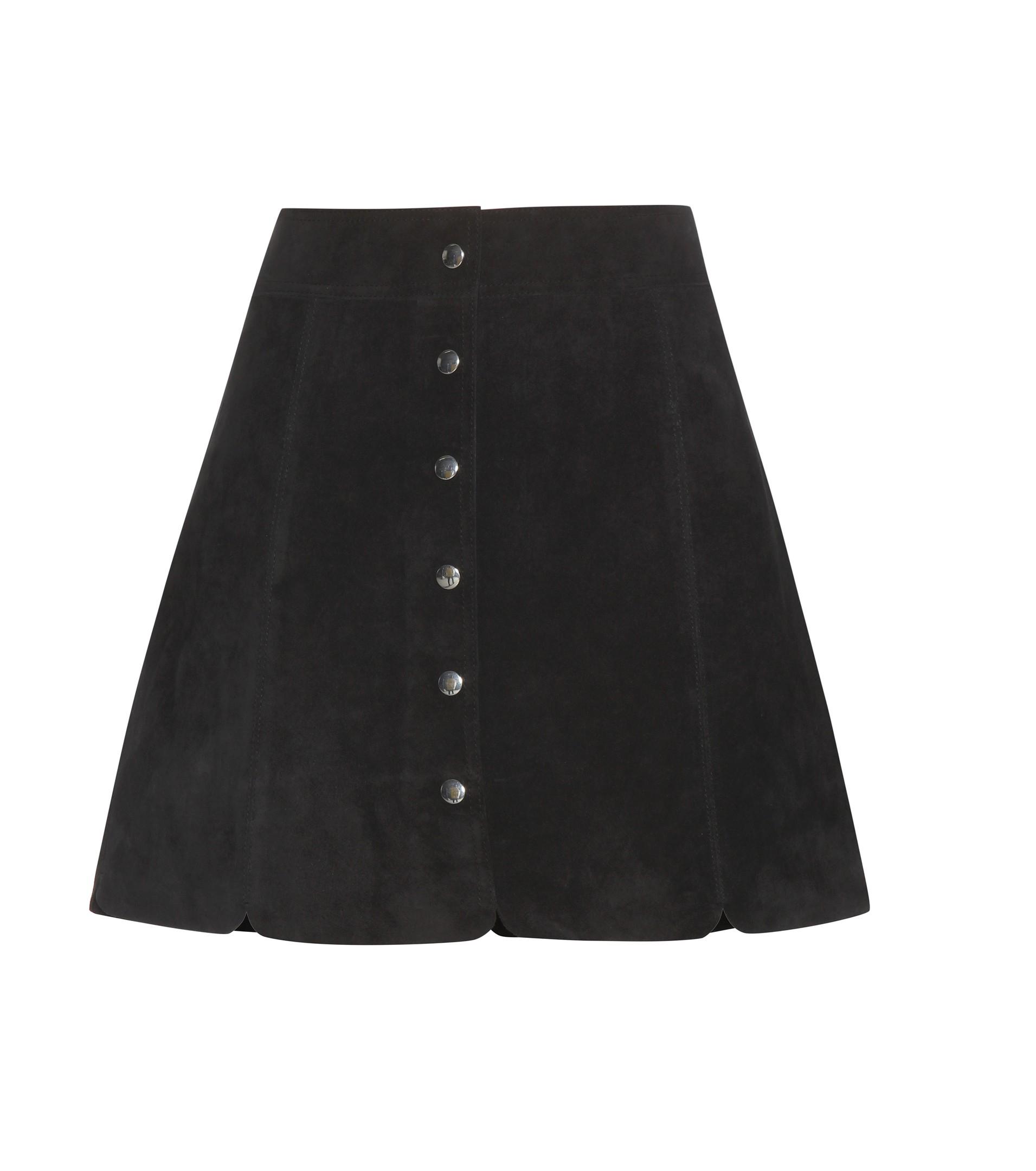 a81dda7cb9 Étoile Isabel Marant Anna Suede Miniskirt in Black - Lyst