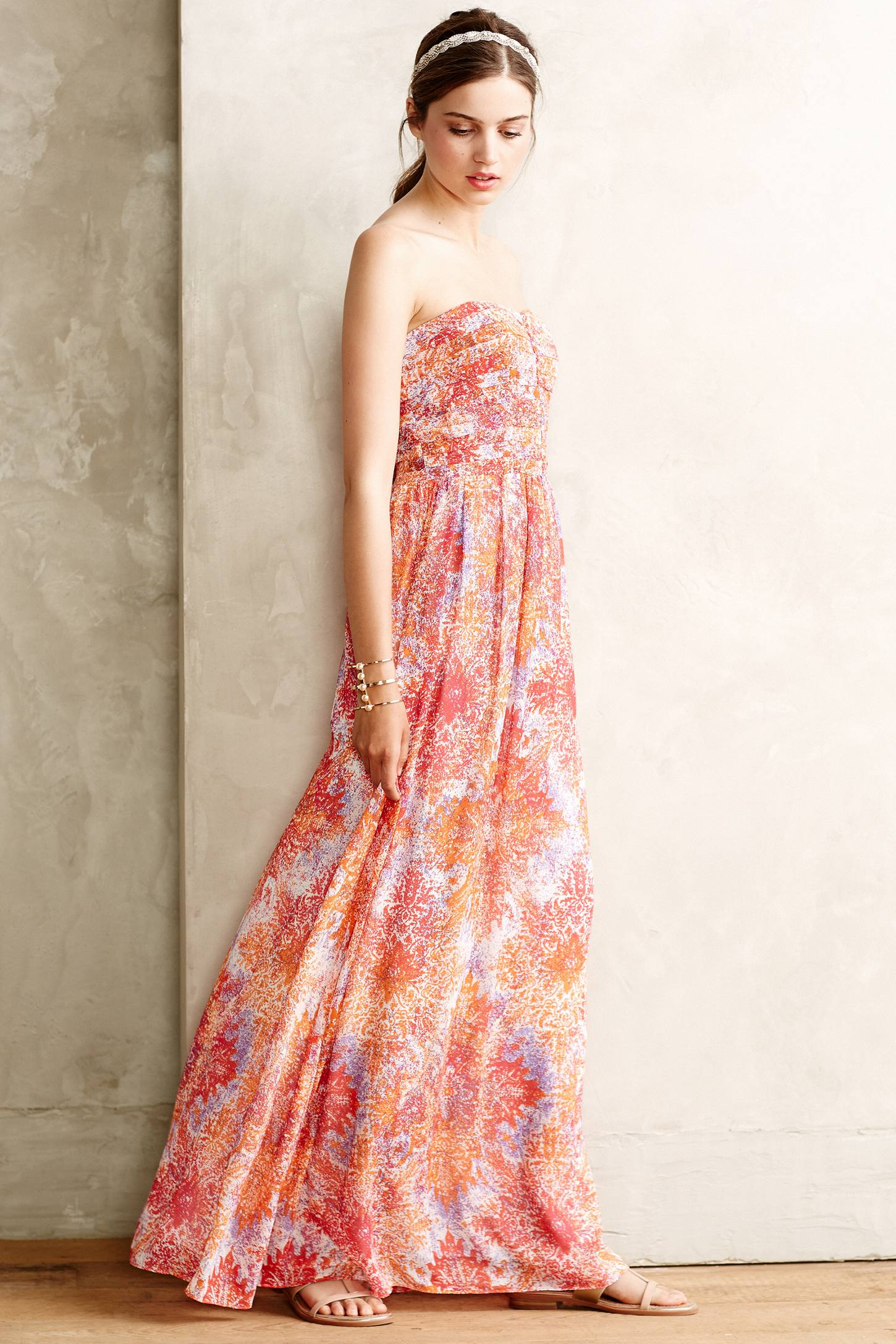 Anthropologie Vernalis Maxi Dress in Red | Lyst