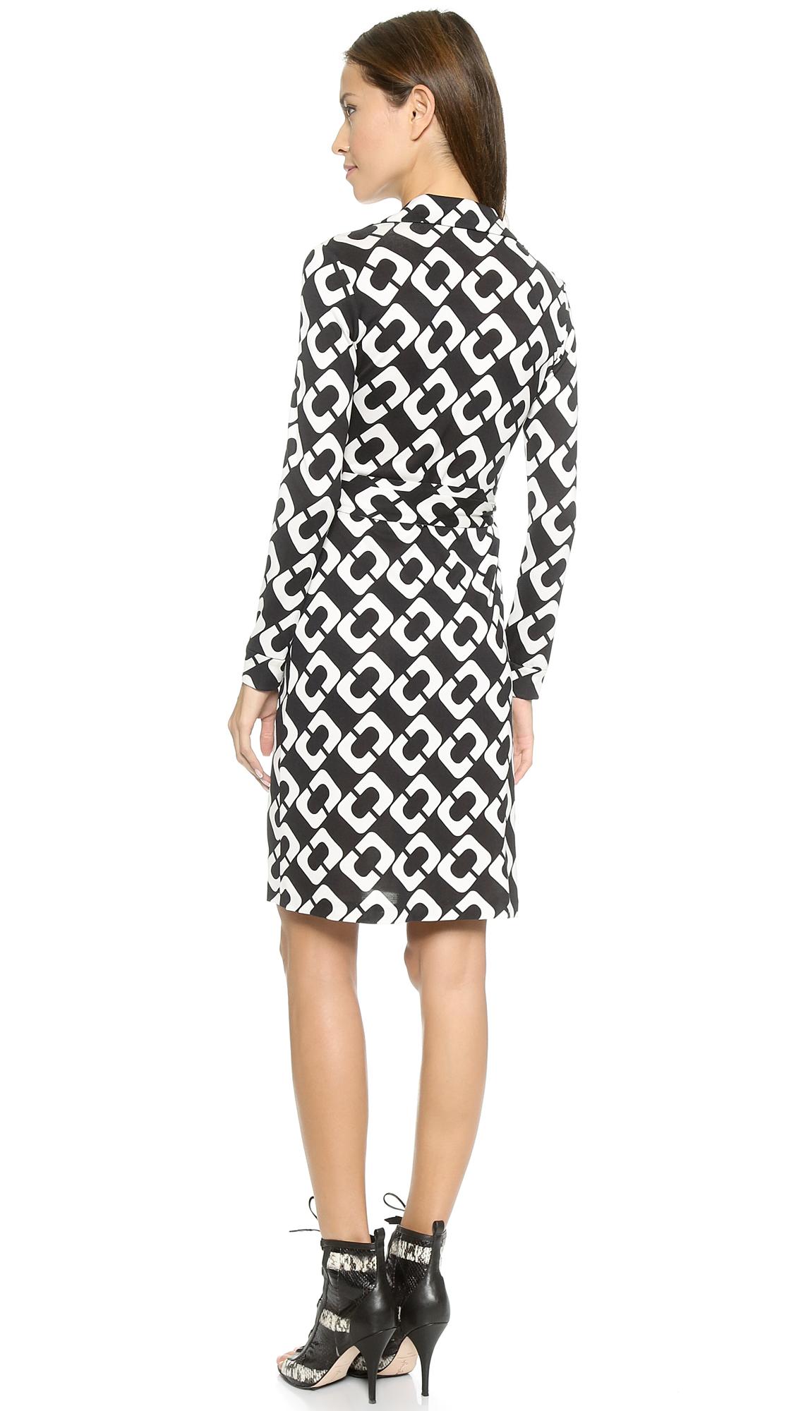 a6ac54e8230 Diane von Furstenberg New Jeanne Two Wrap Dress in Black - Lyst
