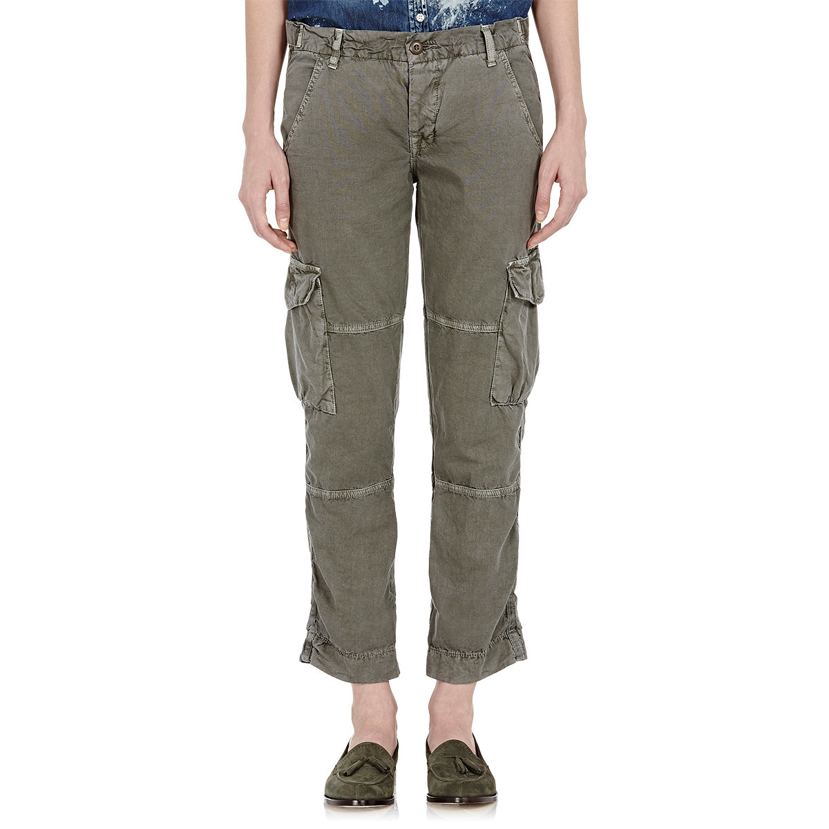 Beautiful Handmade Womens Green Casual Cargo Pants 28quot  29quot  30quot