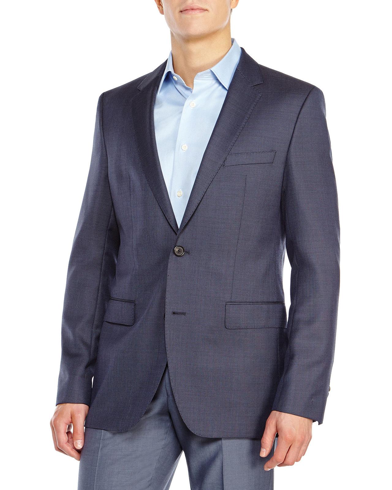 boss by hugo boss medium blue sport coat in blue for men. Black Bedroom Furniture Sets. Home Design Ideas