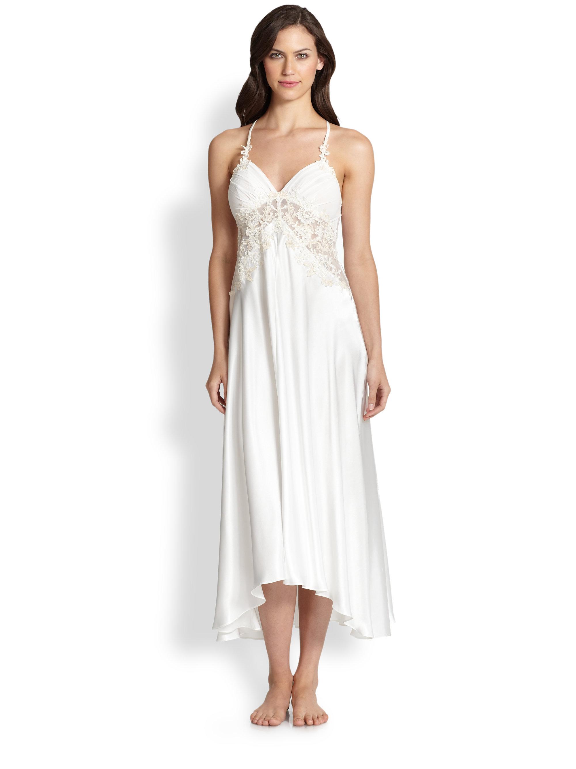 Lyst - Jonquil Sabrina Satin Sleep Gown in Natural