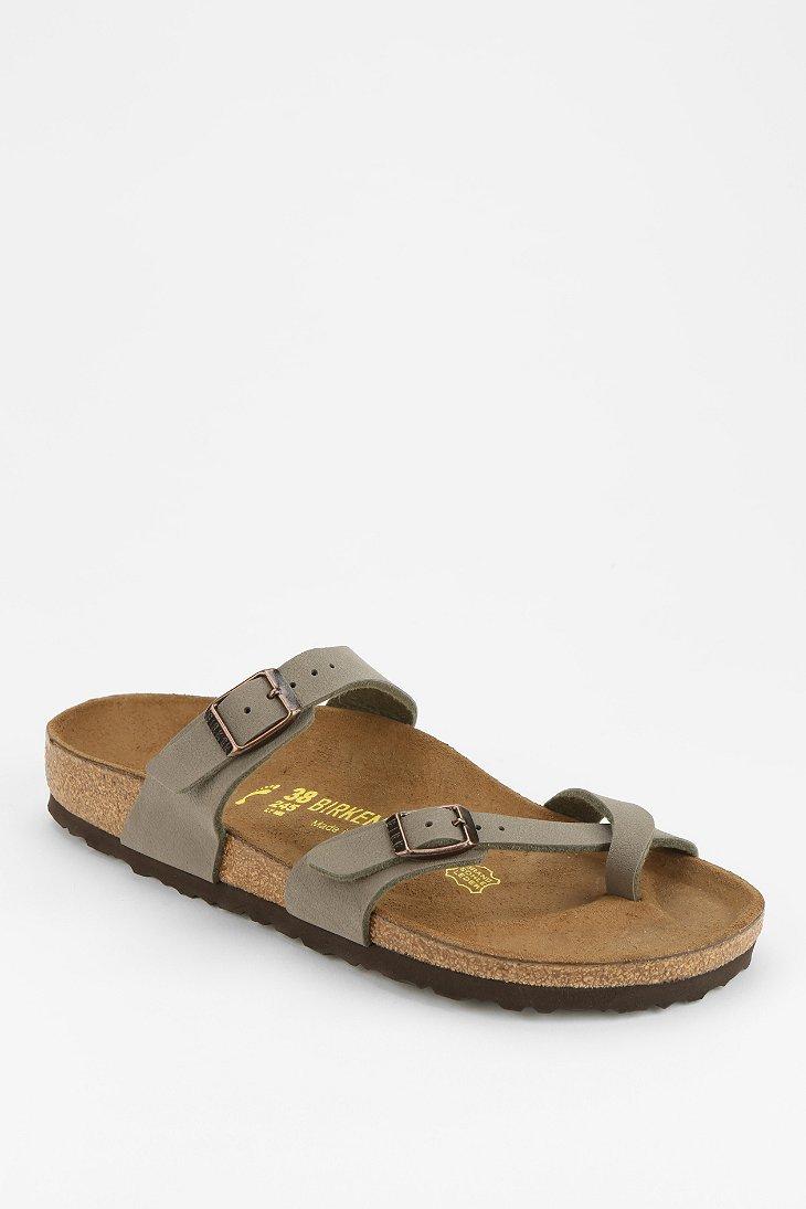 a2e00c409b780 Lyst - Birkenstock Mayari Toehold Sandal in Gray
