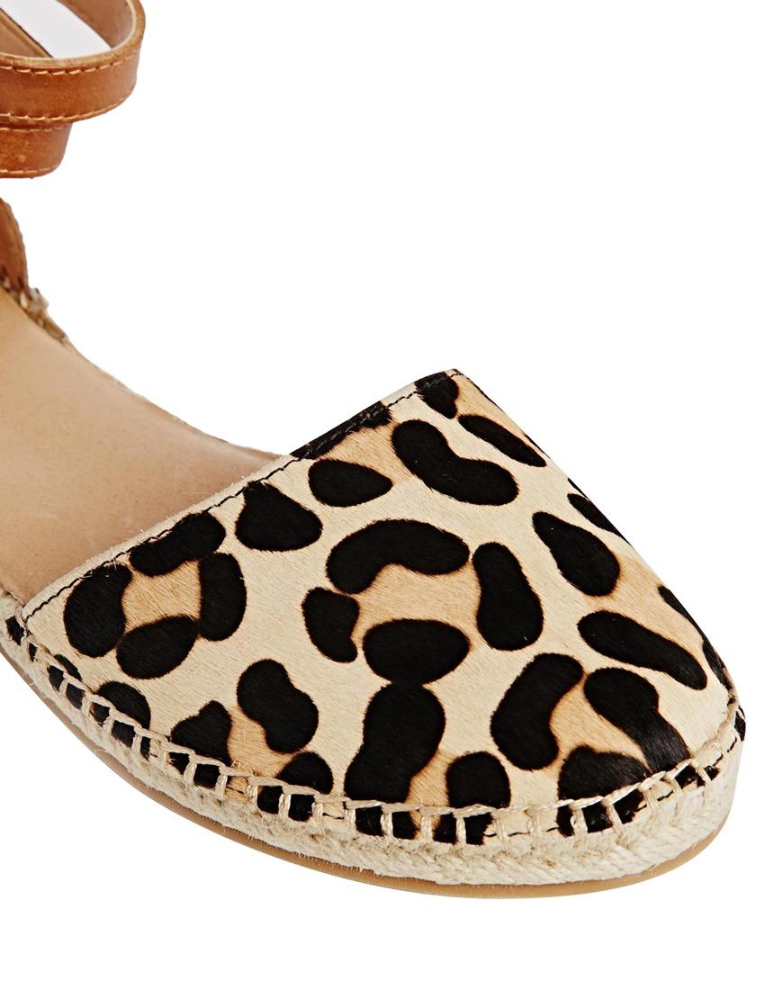 bf93cc6a2083 Aldo Zanca Leopard Print Strap Espadrille Flat Shoes