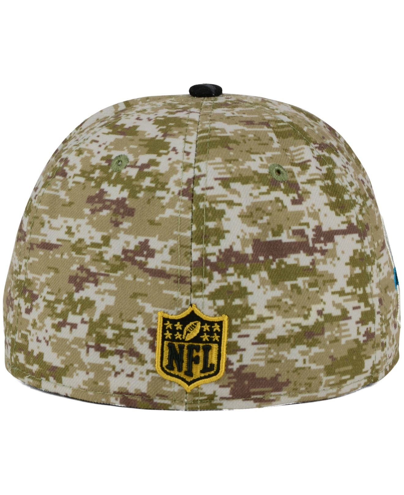 247d2c195 Lyst - KTZ Carolina Panthers Salute To Service 59fifty Cap in Green ...