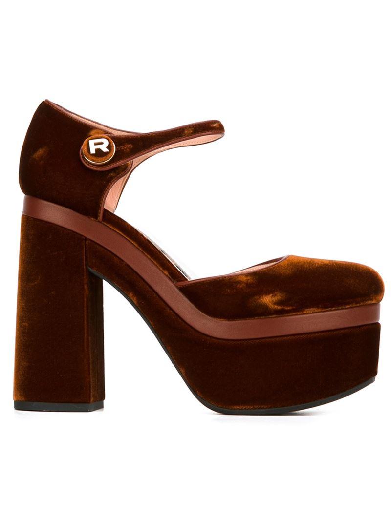 Velvet plateau sandals Rochas DO0dSLfDcr