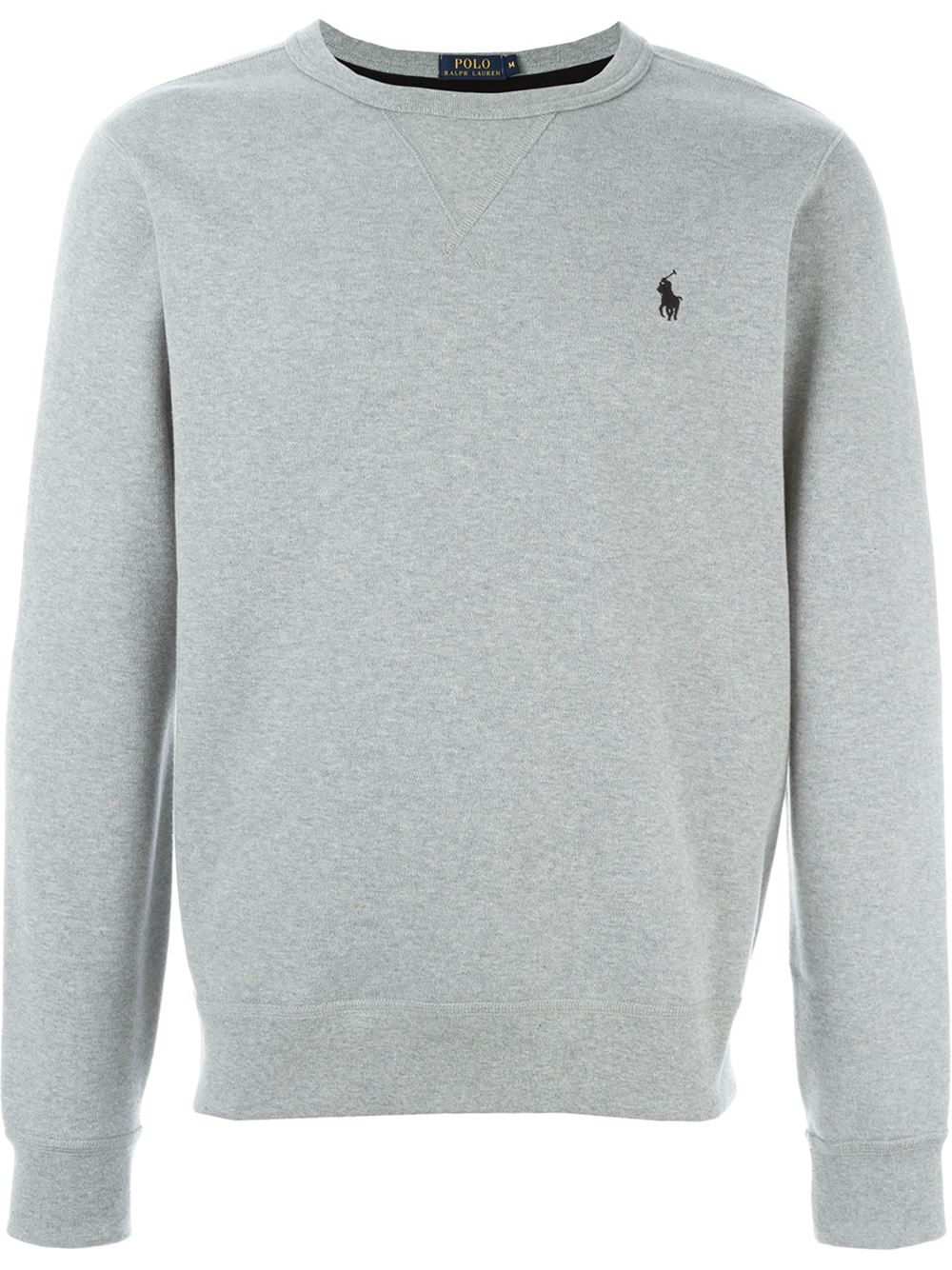 lyst polo ralph lauren crew neck sweatshirt in gray for men. Black Bedroom Furniture Sets. Home Design Ideas
