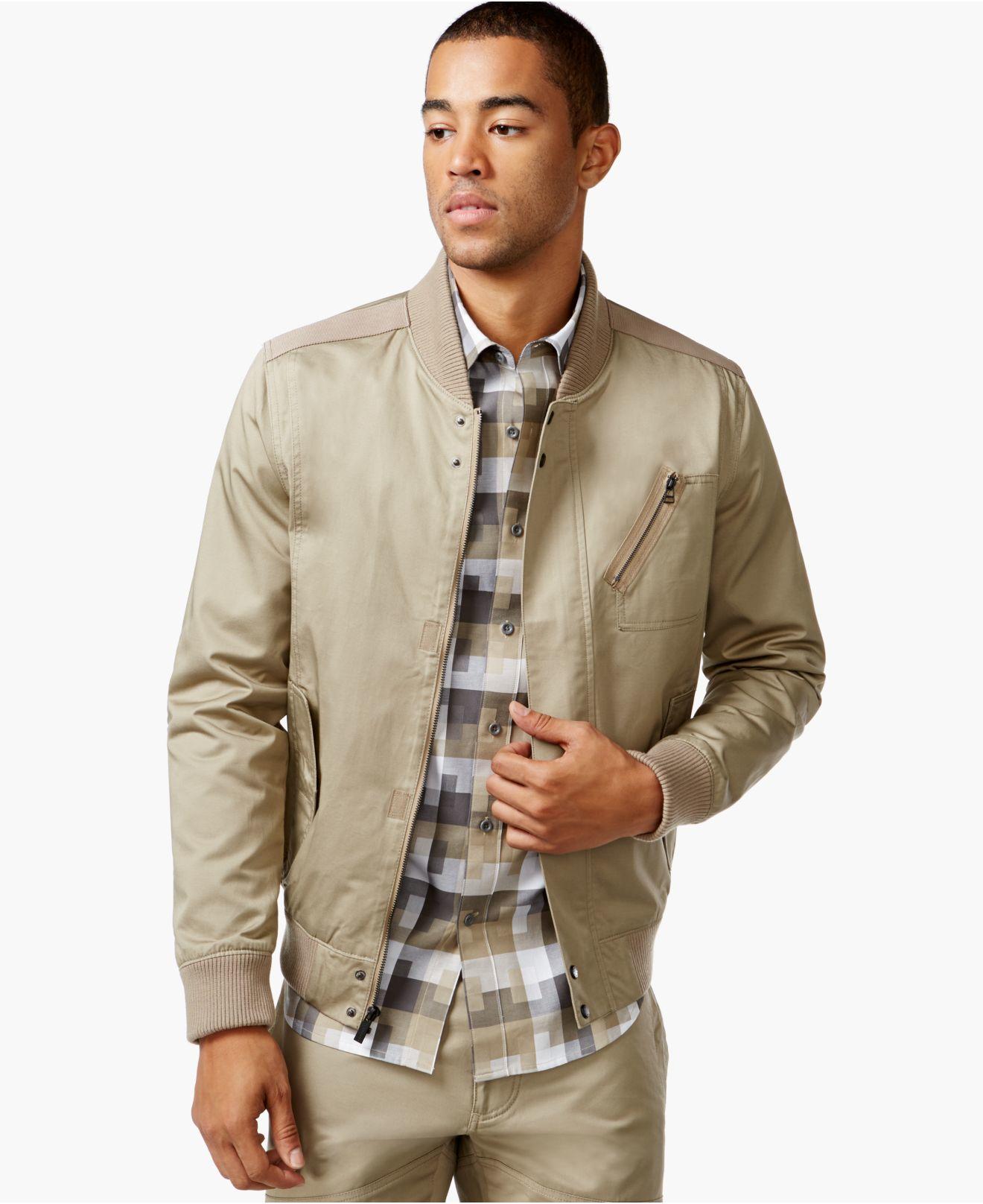 Lyst sean john utility jacket in natural for men for Sean john t shirts for mens