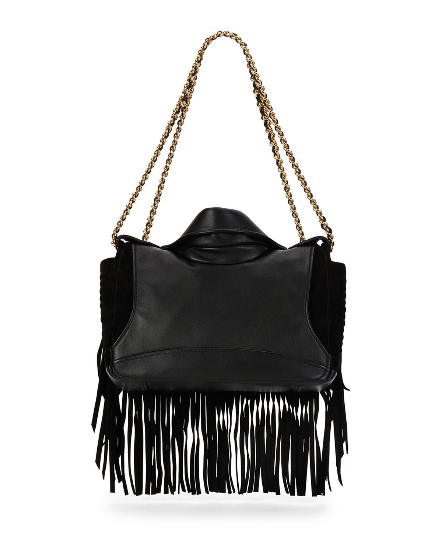 Moschino Fringe Jacket Large Shoulder Bag In Black Lyst