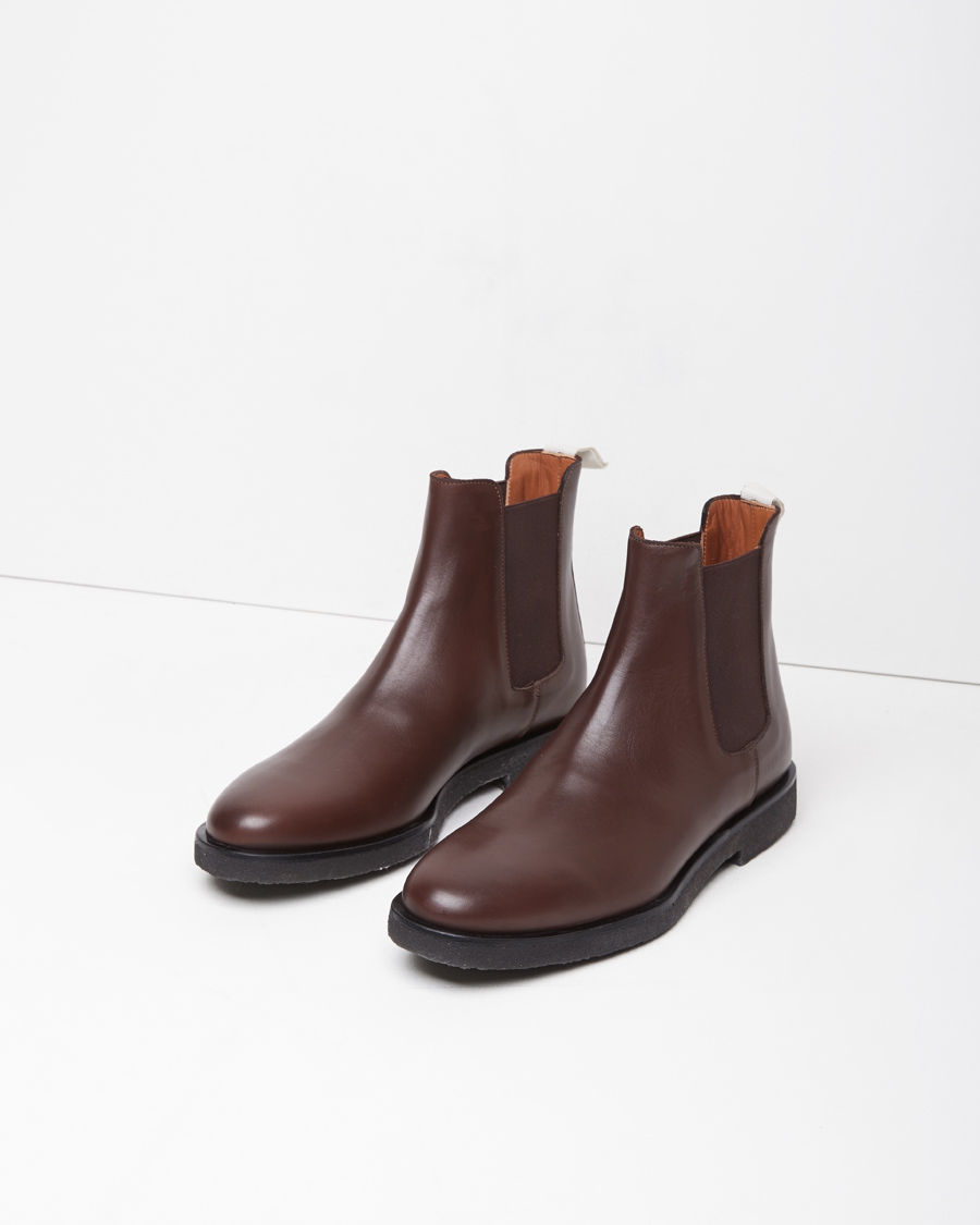 common projects leather chelsea boots in brown lyst