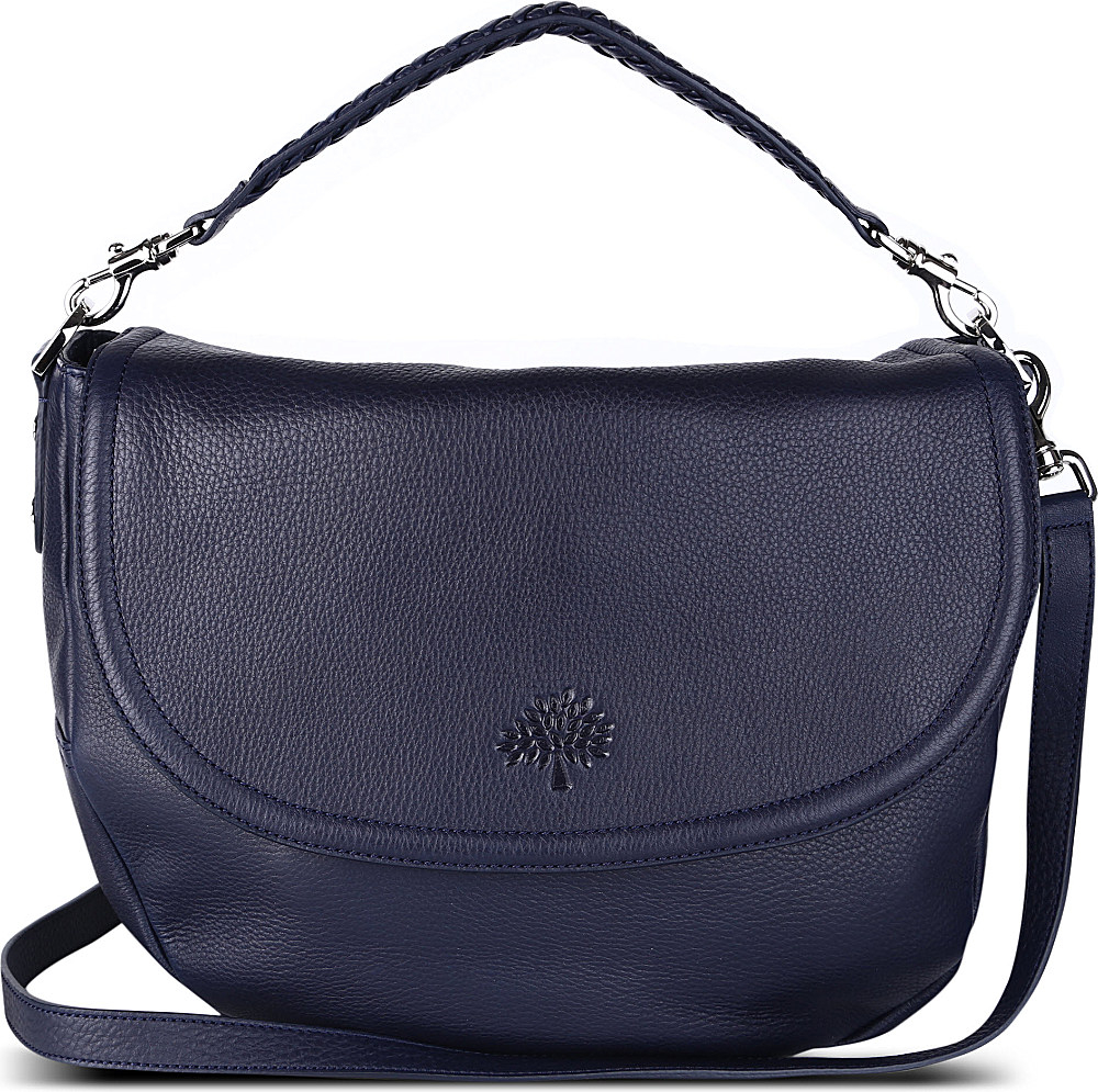 8a6c8f7ed2 Mulberry Effie Spongy Pebbled Leather Satchel in Blue - Lyst