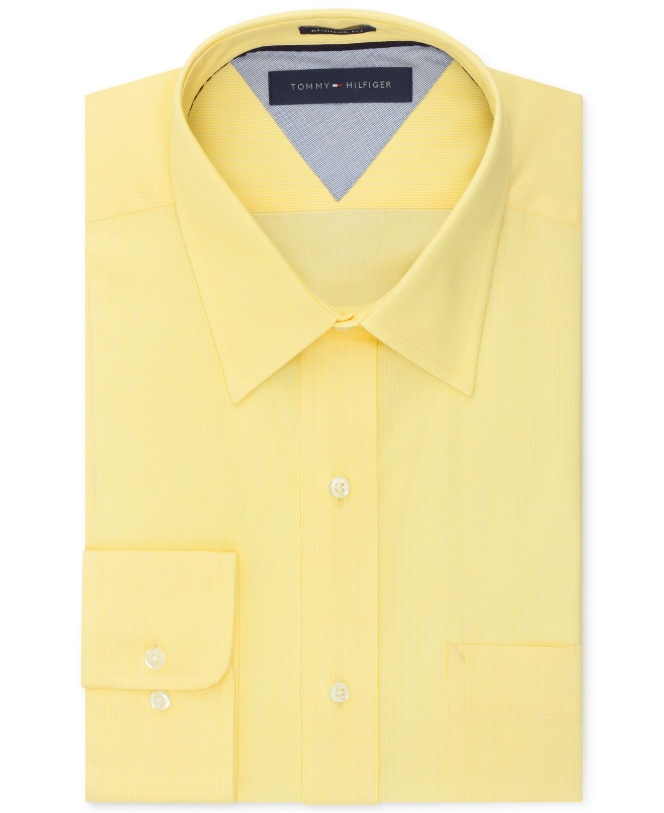 Lyst Tommy Hilfiger Easy Care Sunlight Yellow Solid Dress Shirt In