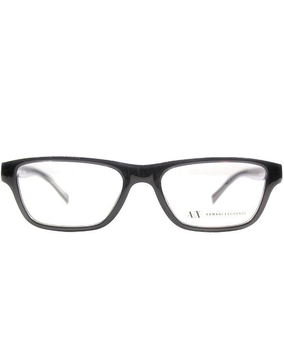 Armani Glasses Frames 2015 : Armani exchange Ax 3014 8005 Transparent Black Rectangle ...