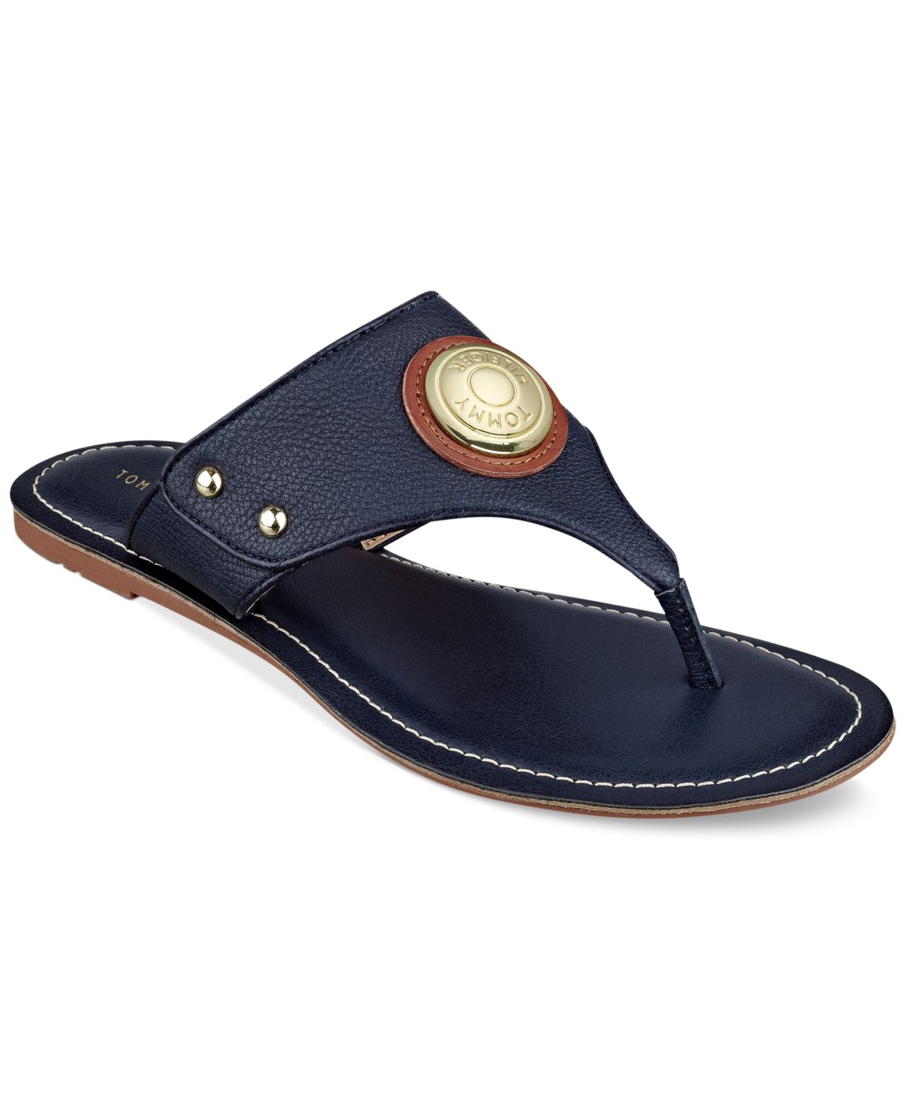 Tommy Hilfiger Lelani Thong Sandals In Blue Lyst