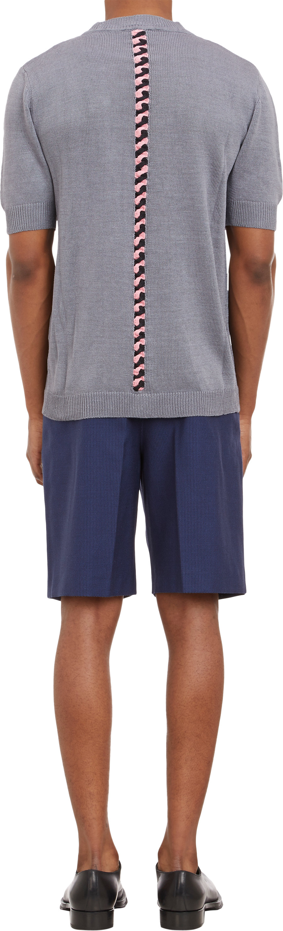 Lyst Raf Simons Microdot Pleated Walking Shorts In Blue