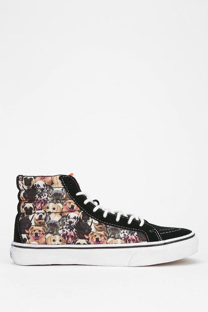 842b28ad5ee64f Lyst - Vans Sk8hi Dog Print Womens Hightop Sneaker