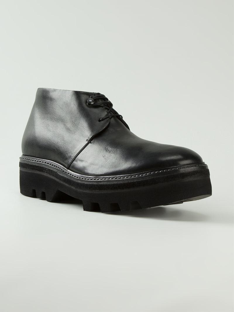 Barny Nakhle Chunky Platform Boots In Black For Men Lyst