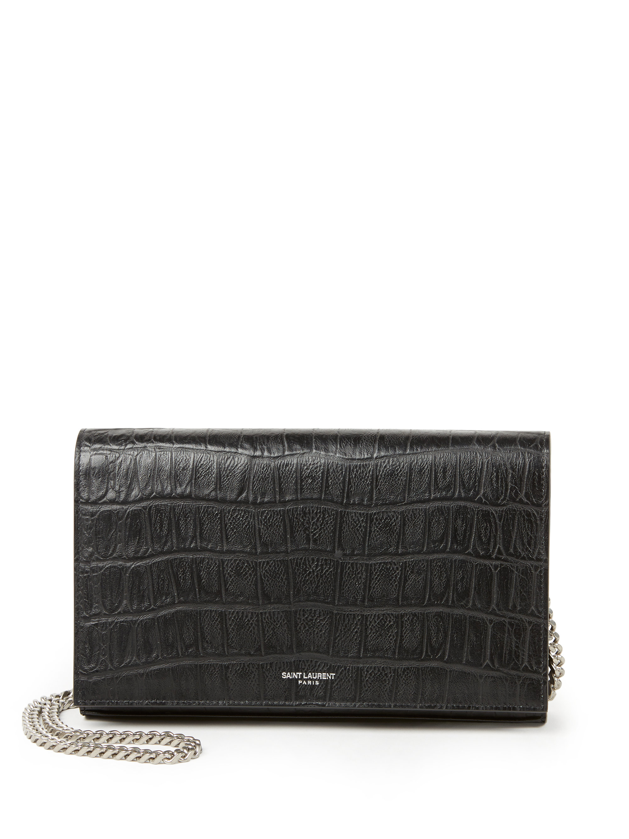Quilted Textured-leather Wallet - Black Saint Laurent HOilyh