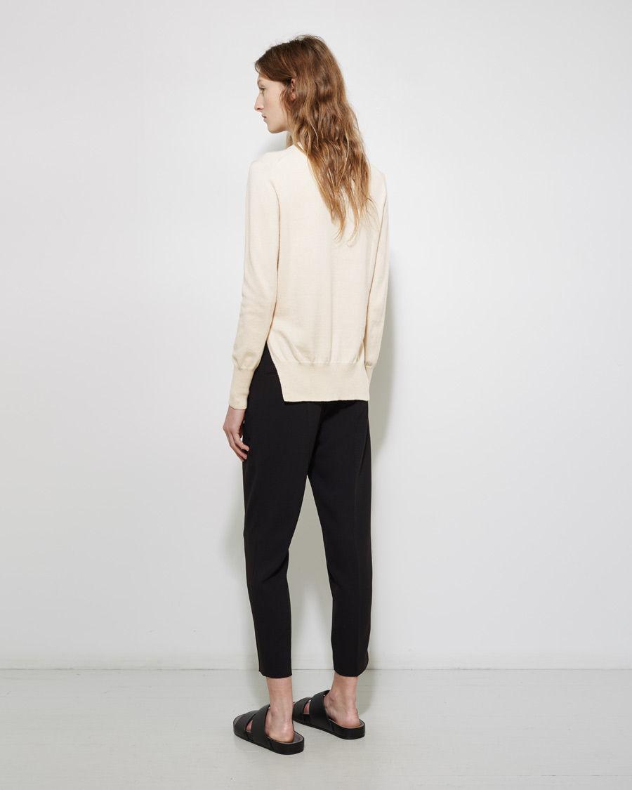 toile isabel marant kerstin crewneck pullover in white lyst. Black Bedroom Furniture Sets. Home Design Ideas