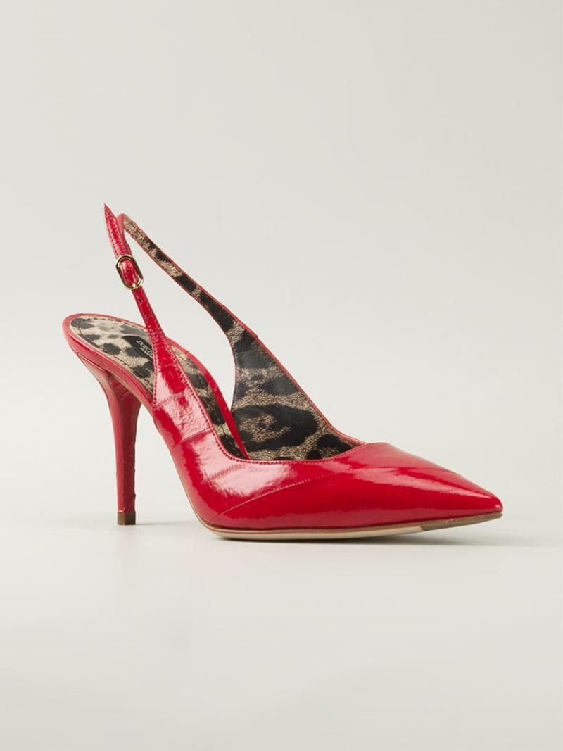 Lyst Dolce Amp Gabbana Bellucci K Patent Leather Slingback