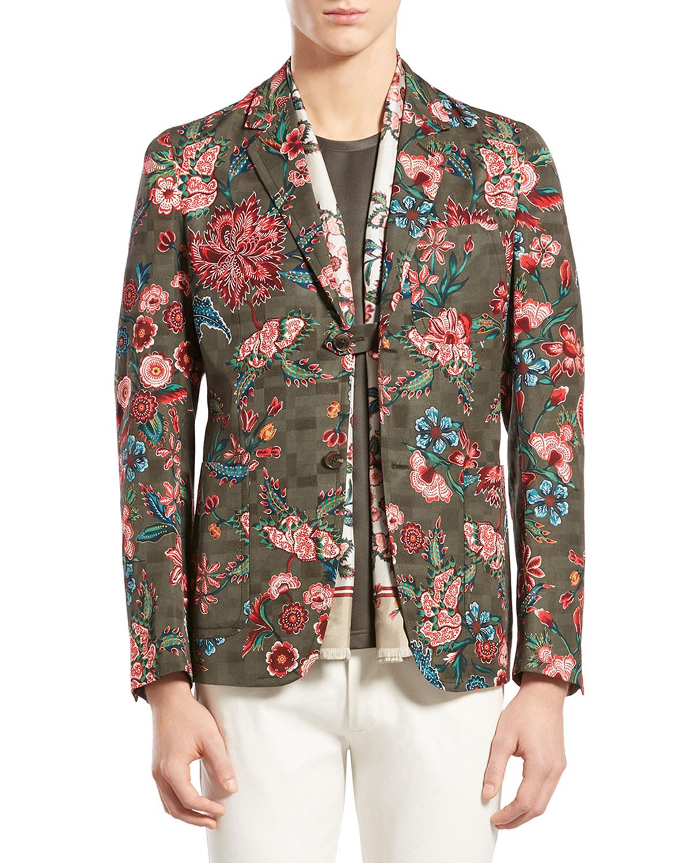 Gucci Floralprint Jacquard Jacket For Men Lyst
