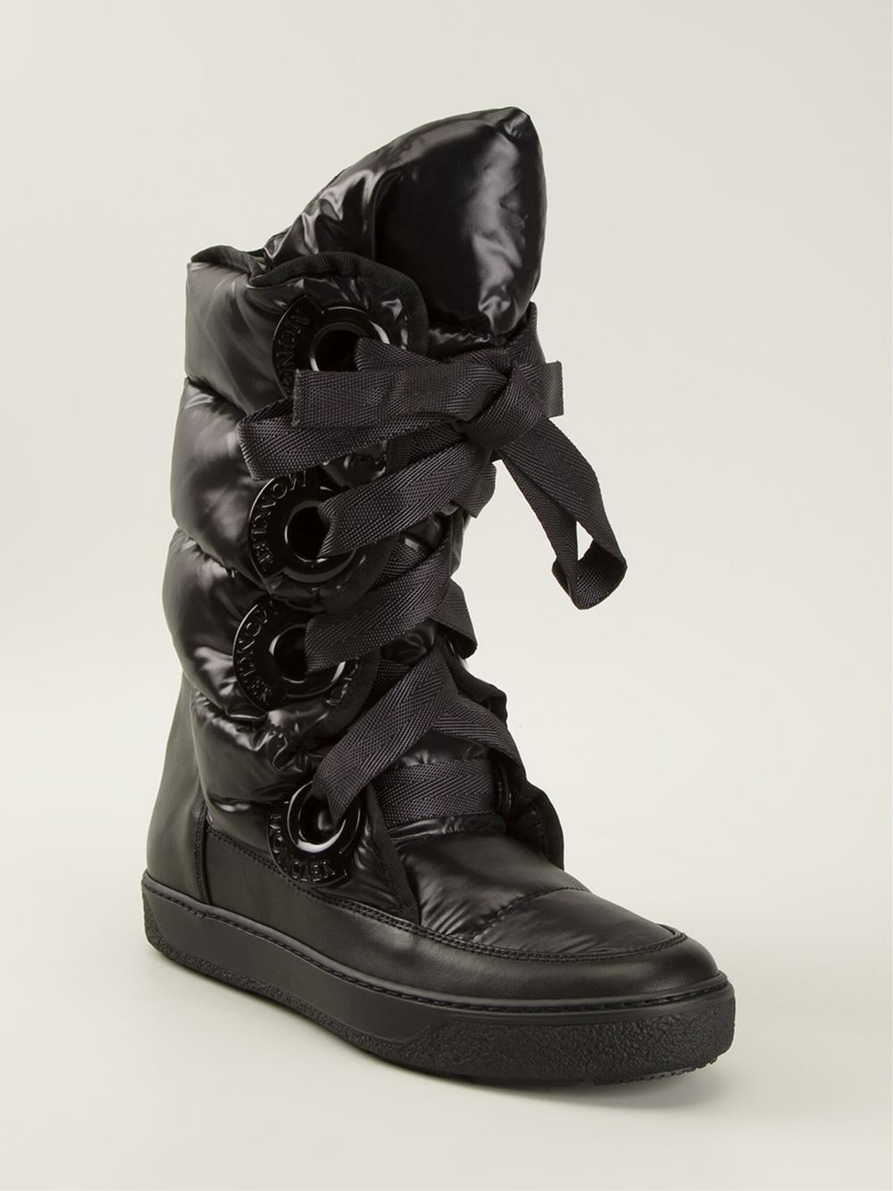 c4aa8d860 Moncler Black 'Catherine' Snow Boots