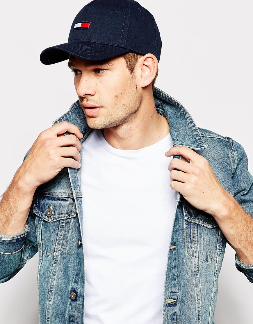 Lyst - Tommy Hilfiger Flag Baseball Cap in Blue for Men c2a70d26f5e