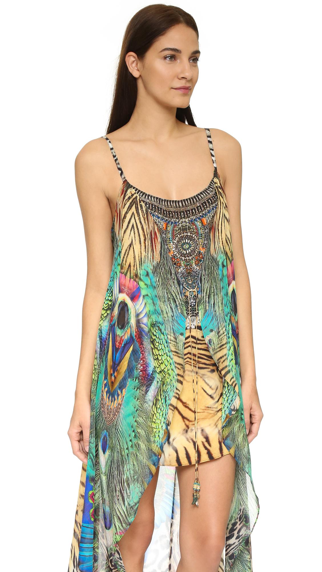 camilla mini dress with overlay lyst