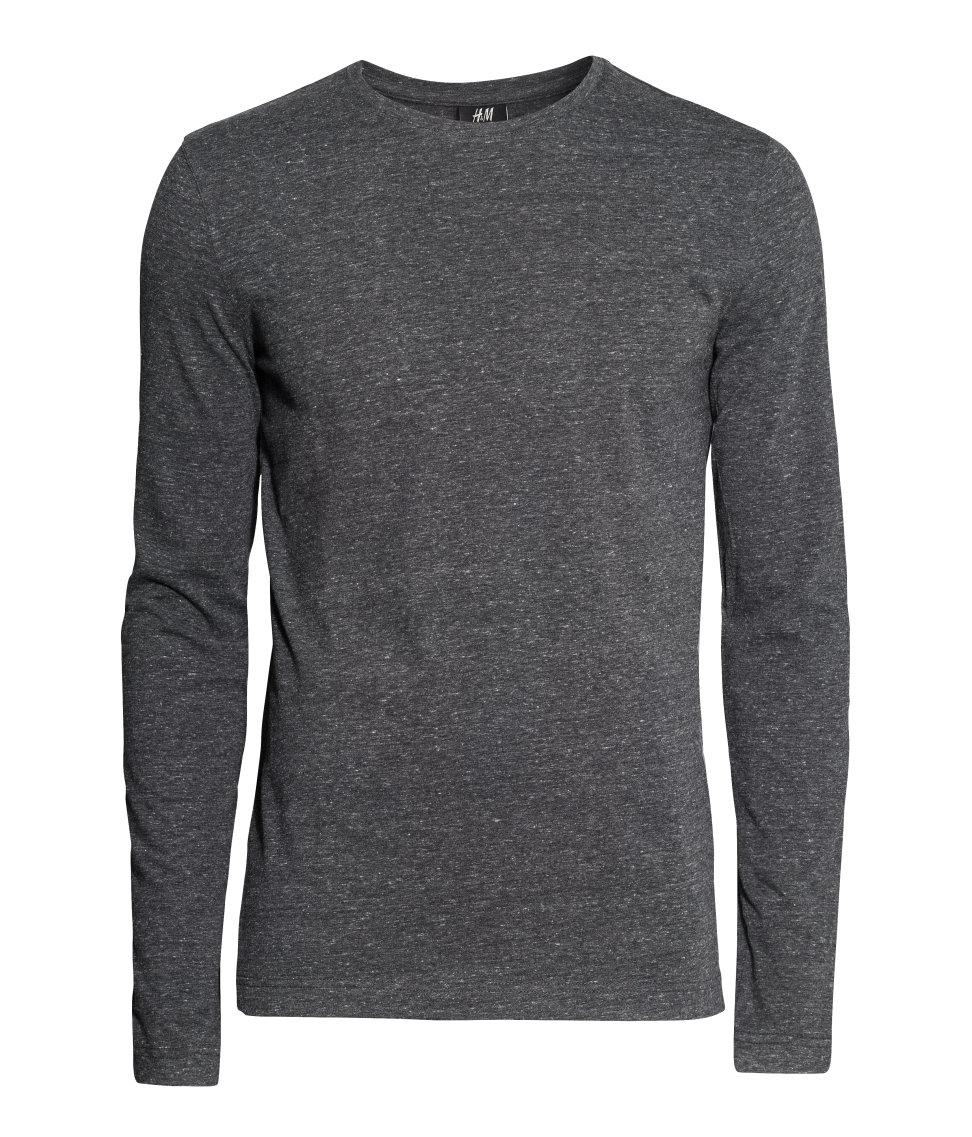 Pin long sleeve t shirt grey on pinterest for Grey long sleeve shirts