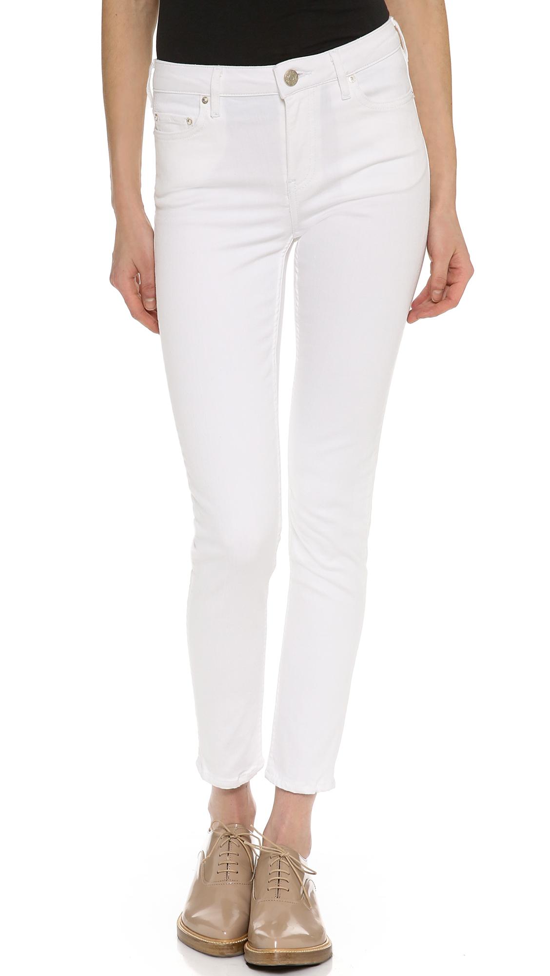 Women\u2019s Acne Roc  Optic White Denim Jeans Size 30-31