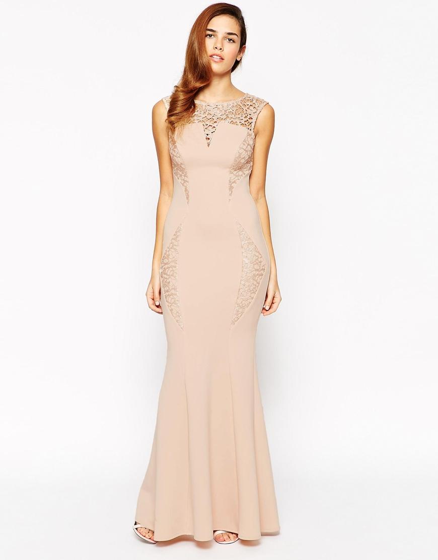 Lyst Lipsy Michelle Keegan Loves Lace Top Maxi Dress