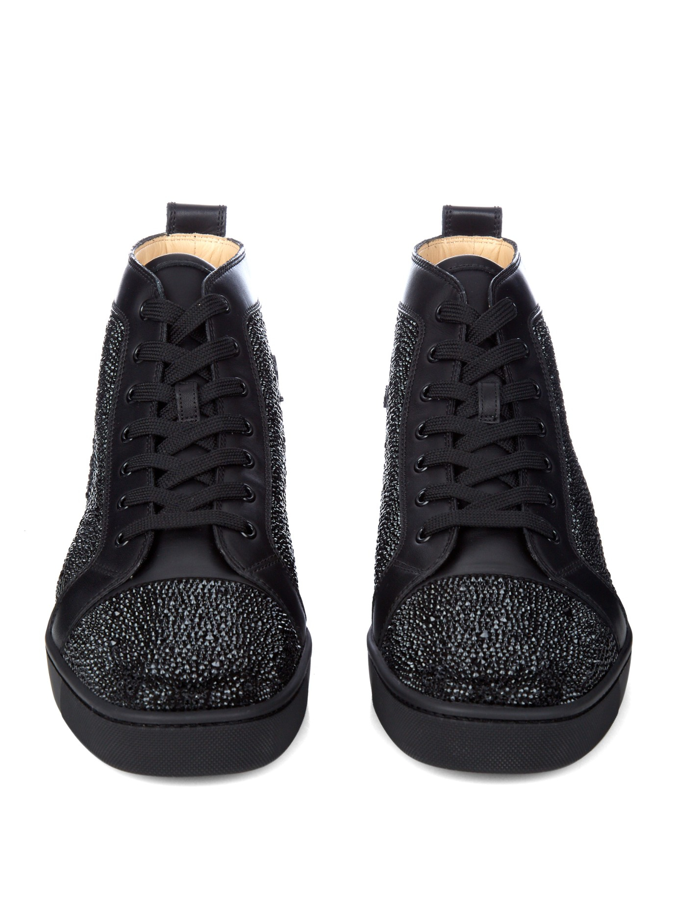 46d3fa37fb9 Lyst - Christian Louboutin Louis Lux High-Top Sneakers in Black for Men