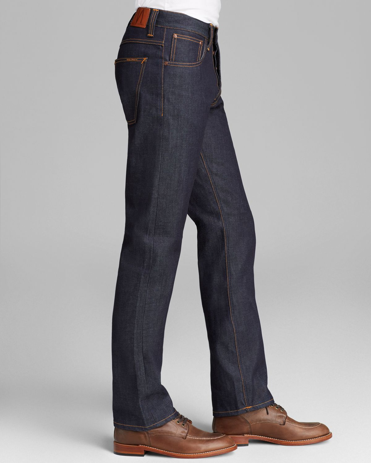 Nudie Jeans Jeans Co Alf Organic Straight Fit in Tonal Dry in Blue for Men