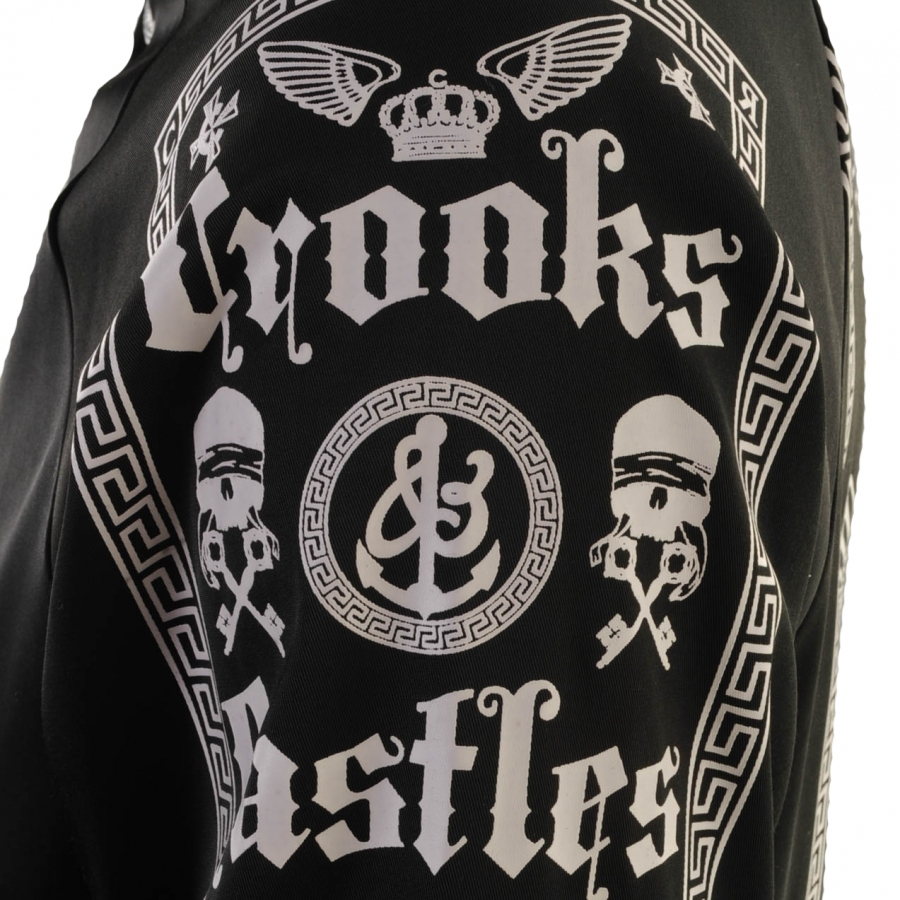 Crooks and Castles Synthetic Ruling Elite Jacket in Black for Men