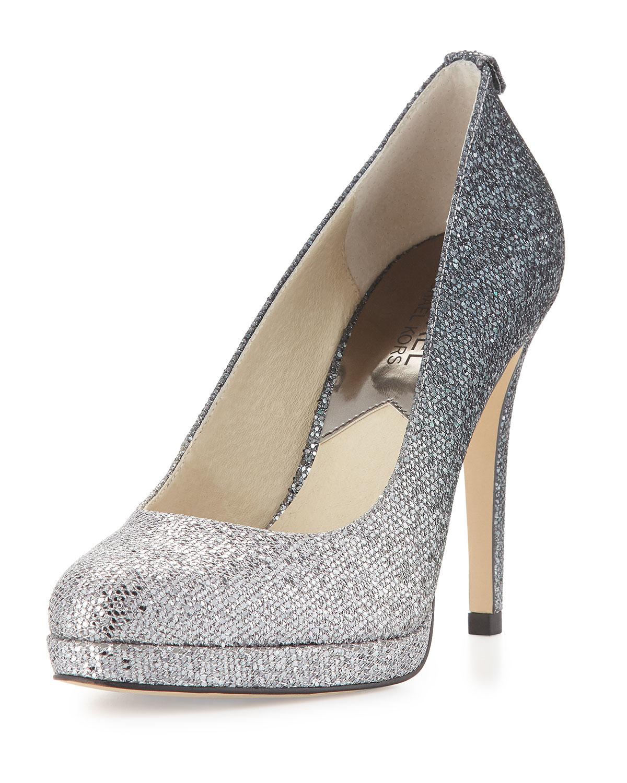 9a14a6d3ead0 Lyst - MICHAEL Michael Kors Georgia Glitter-Embellished Pumps in Gray