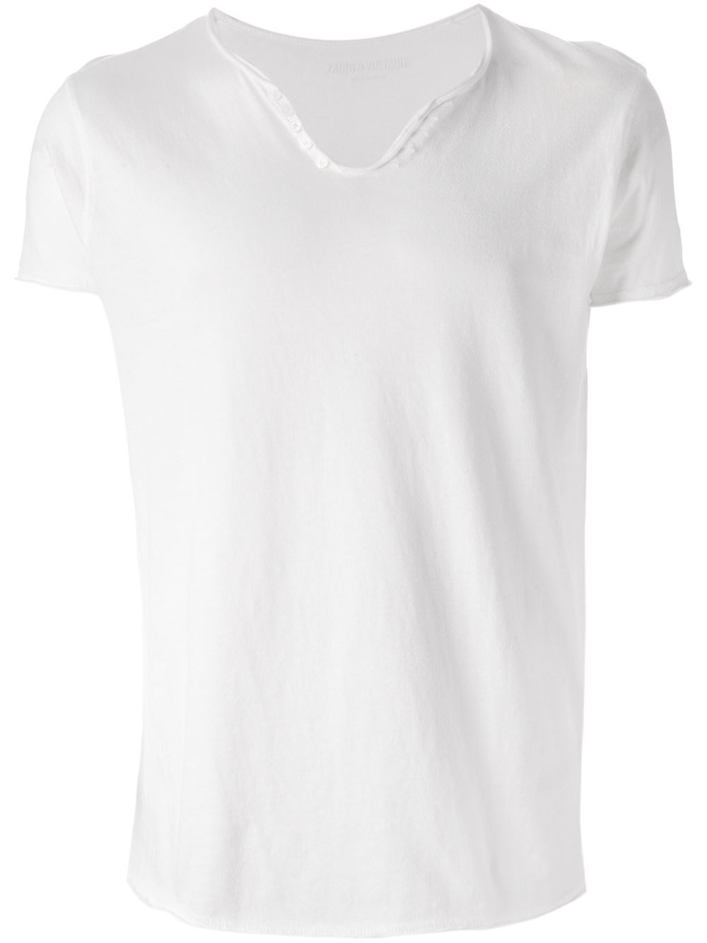 Zadig Amp Voltaire Printed Slogan T Shirt In White For Men