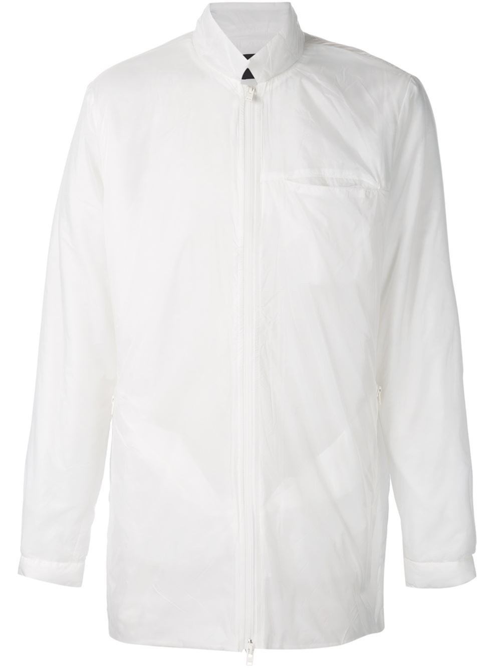 Lyst Stampd Zipped Shirt Jacket In White For Men